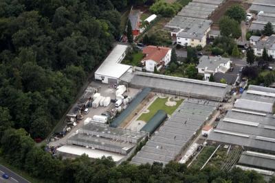 Luftbildaufnahme Gärtnerei Schecker